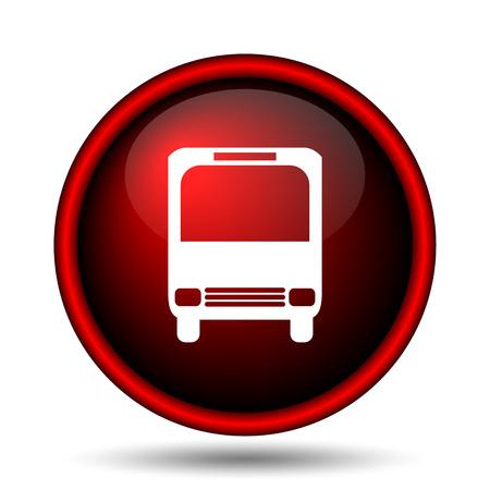 Bus icon. Internet button on white background.  Stock Photo