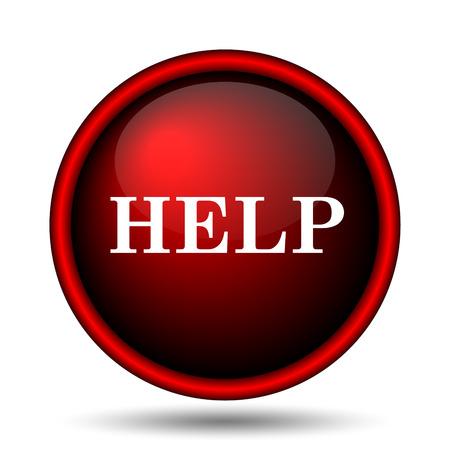 Help icon. Internet button on white background.  photo