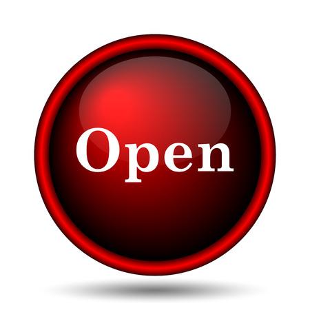 Open icon. Internet button on white background.  photo
