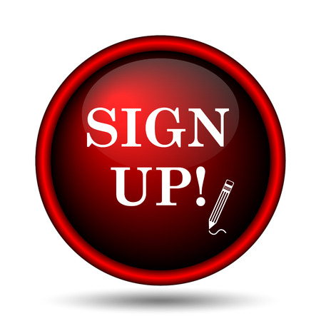 Sign up icon. Internet button on white background.  photo