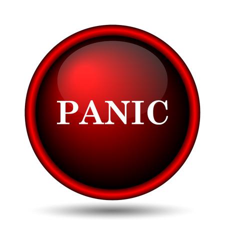 Panic icon. Internet button on white background.  photo