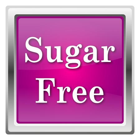 Sugar Free Magenta shiny glossy icon isolated on white background photo
