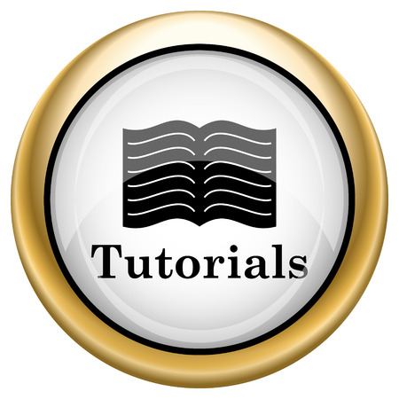tutoriels: Tutoriels Brillant ic�ne brillant. bouton Internet sur fond blanc