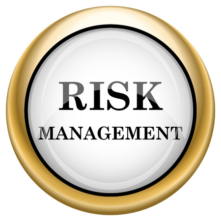 Risk Management Shiny glossy icon. Internet button on white background photo