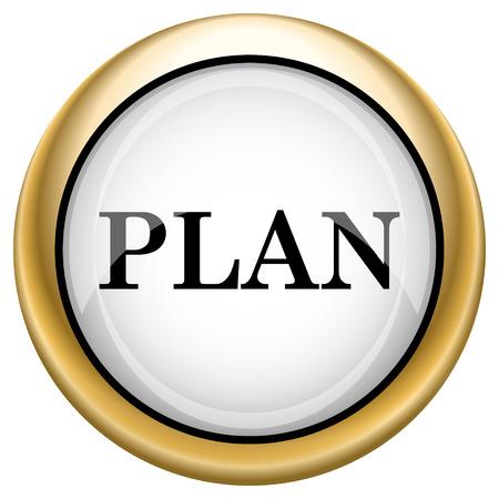 Plan Shiny glossy icon. Internet button on white background photo