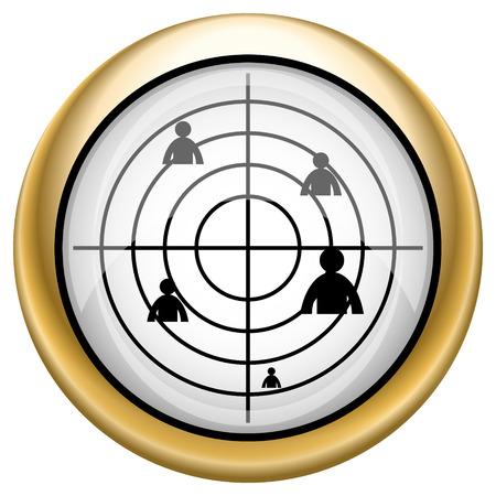 Target Shiny glossy icon. Internet button on white background photo