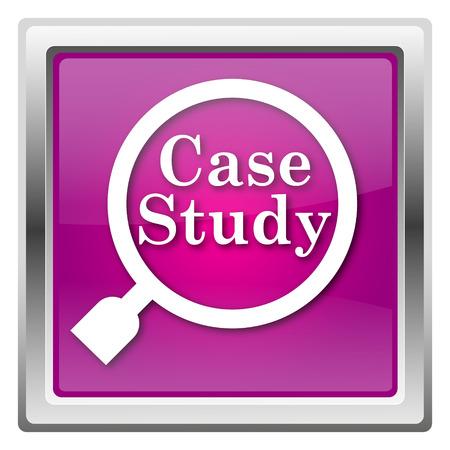 case study Magenta shiny glossy icon isolated on white background photo