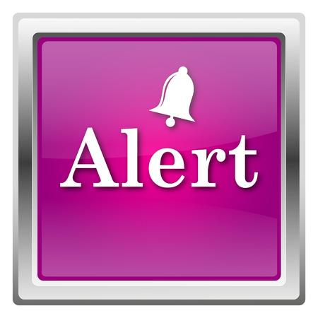 alert ribbon: Alert Magenta shiny glossy icon isolated on white background