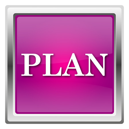 Plan Magenta shiny glossy icon isolated on white background photo