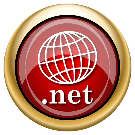 .net Red shiny glossy icon on white background photo