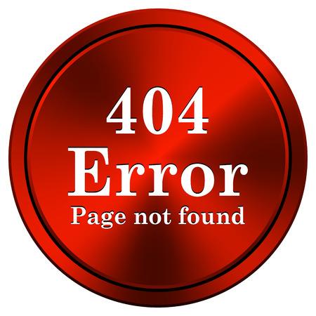 red metallic: 404 Error Red metallic round icon on white background