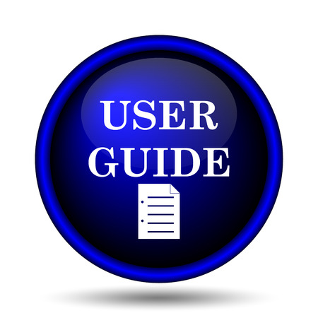 User guide icon. Internet button on white background.  photo