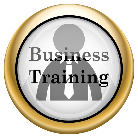idea hurdle: Business Training Shiny glossy icon. Internet button on white background
