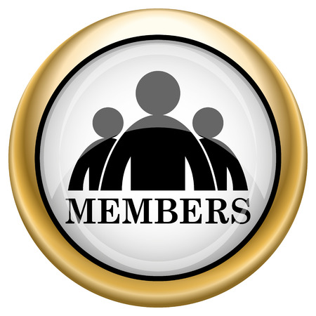 fellowship: Members Shiny glossy icon. Internet button on white background