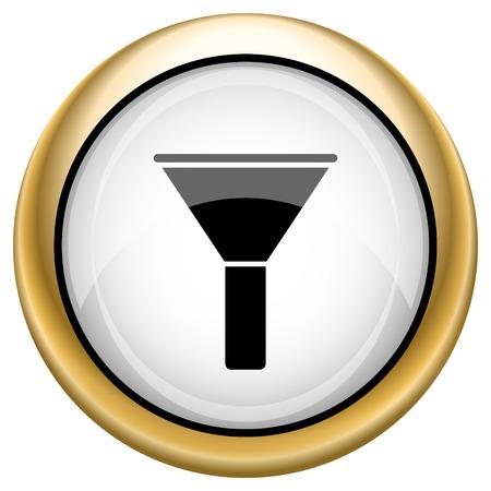 bottleneck: Bottleneck Shiny glossy icon. Internet button on white background Stock Photo