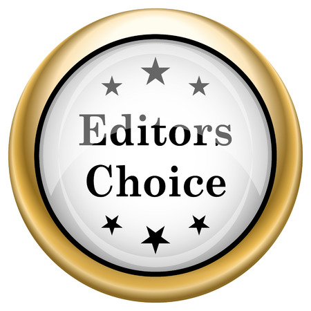 Editor choice Shiny glossy icon. Internet button on white background photo