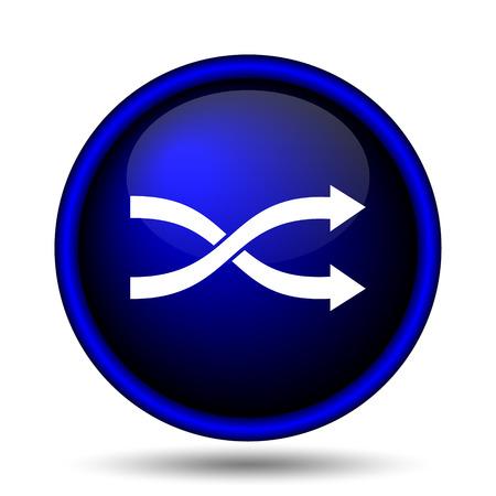 Shuffle icon. Internet button on white background.  photo