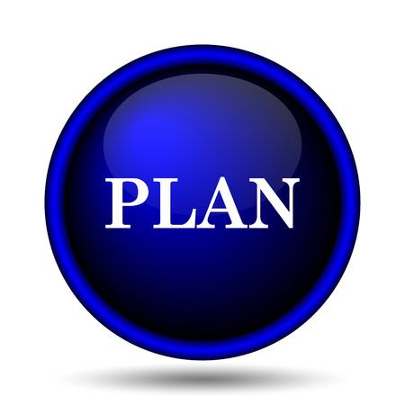 Plan icon. Internet button on white background.  photo