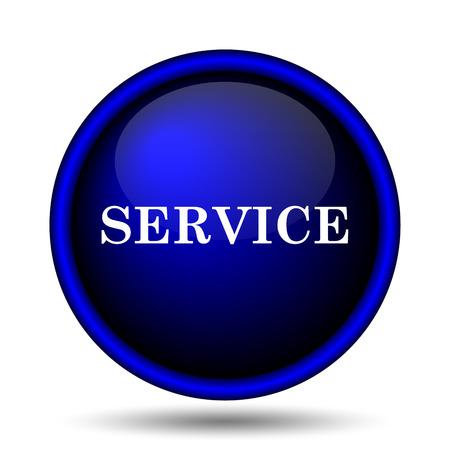 Service icon. Internet button on white background.  photo