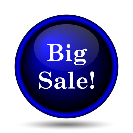 Big sale icon. Internet button on white background.  photo