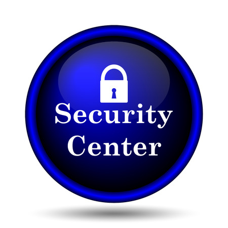 Security center icon. Internet button on white background.  Stock Photo