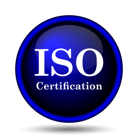 ISO certification icon. Internet button on white background.  photo