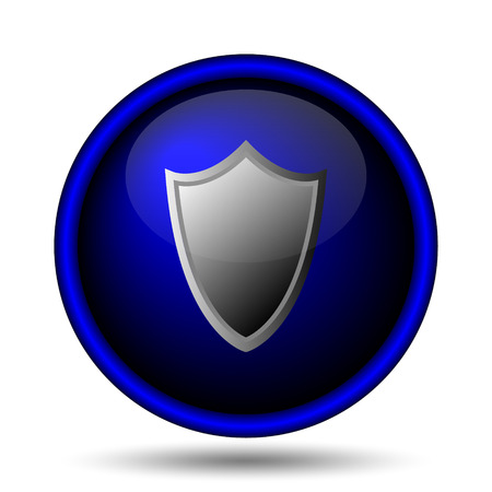 Shield icon. Internet button on white background.  photo