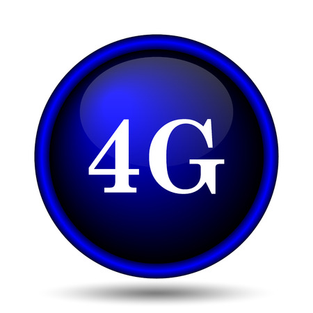 communications tower: 4G icon. Internet button on white background.
