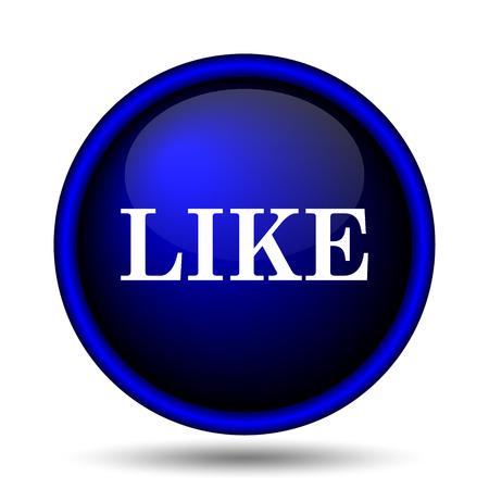 Like icon. Internet button on white background.  photo