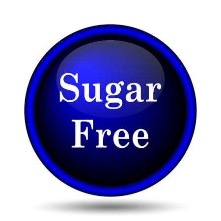 sweetener: Sugar free icon. Internet button on white background.