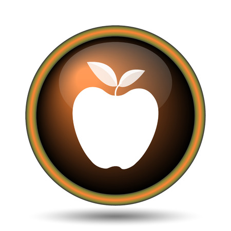 Apple icon. Internet button on white background.  photo
