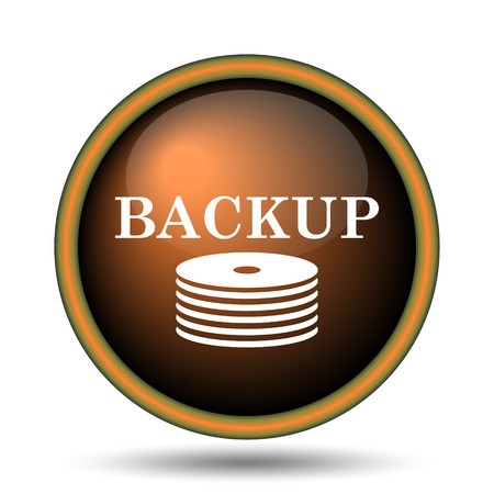 Back-up icon. Internet button on white background.  photo