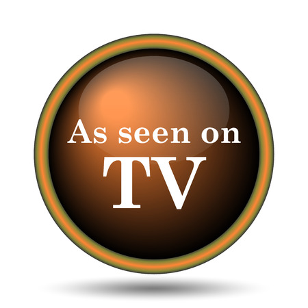 widescreen: As seen on TV icon. Internet button on white background.