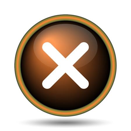 X close icon. Internet button on white background.  photo