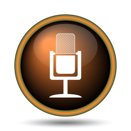 Mikrofon-Symbol. Internet-Taste Auf Weißem Hintergrund. Lizenzfreie ...