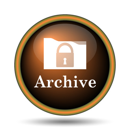recover: Archive icon. Internet button on white background.