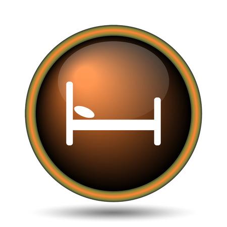 Hotel icon. Internet button on white background.  photo