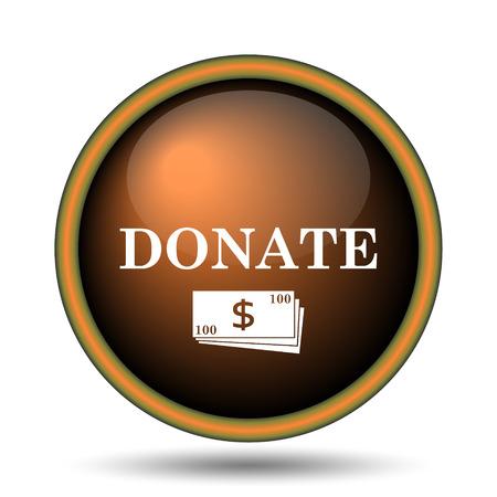 Donate icon. Internet button on white background.  Stock Photo