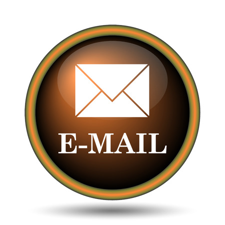 E-mail icon. Internet button on white background.  photo