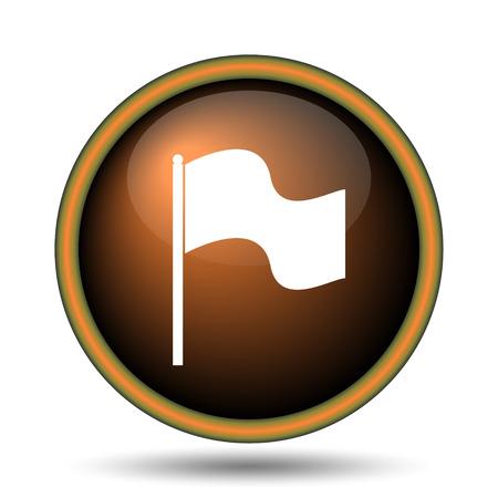 Flag icon. Internet button on white background.  photo