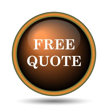 Free quote icon. Internet button on white background.  photo
