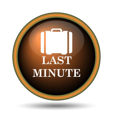 advantageous: Last minute icon. Internet button on white background.  Stock Photo