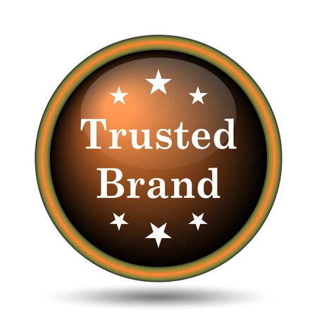 trusted: Trusted brand icon. Internet button on white background.