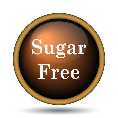 Sugar free icon. Internet button on white background.  photo