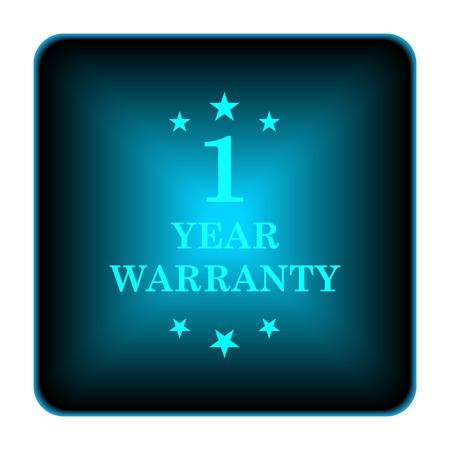 one year warranty: 1 year warranty icon. Internet button on white background.