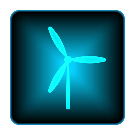 windfarm: Windmill icon. Internet button on white background.