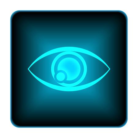 Eye icon. Internet button on white background.  photo