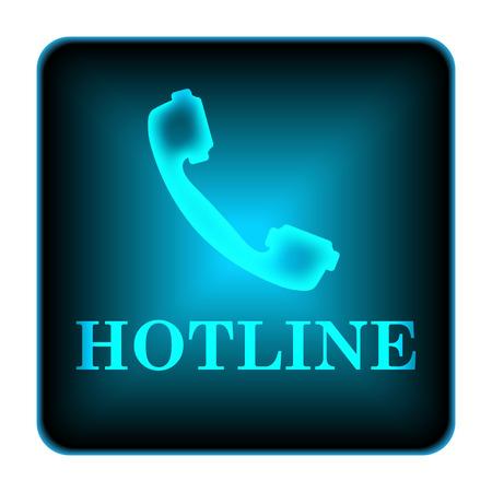 Hotline icon. Internet button on white background.  photo