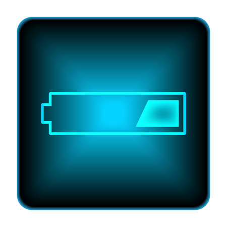 1 third charged battery icon. Internet button on white background.  photo