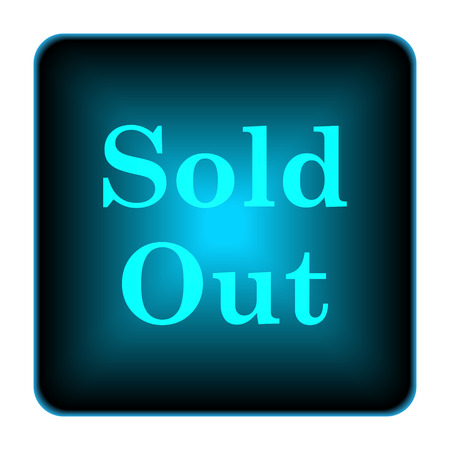 Sold out icon. Internet button on white background.  photo